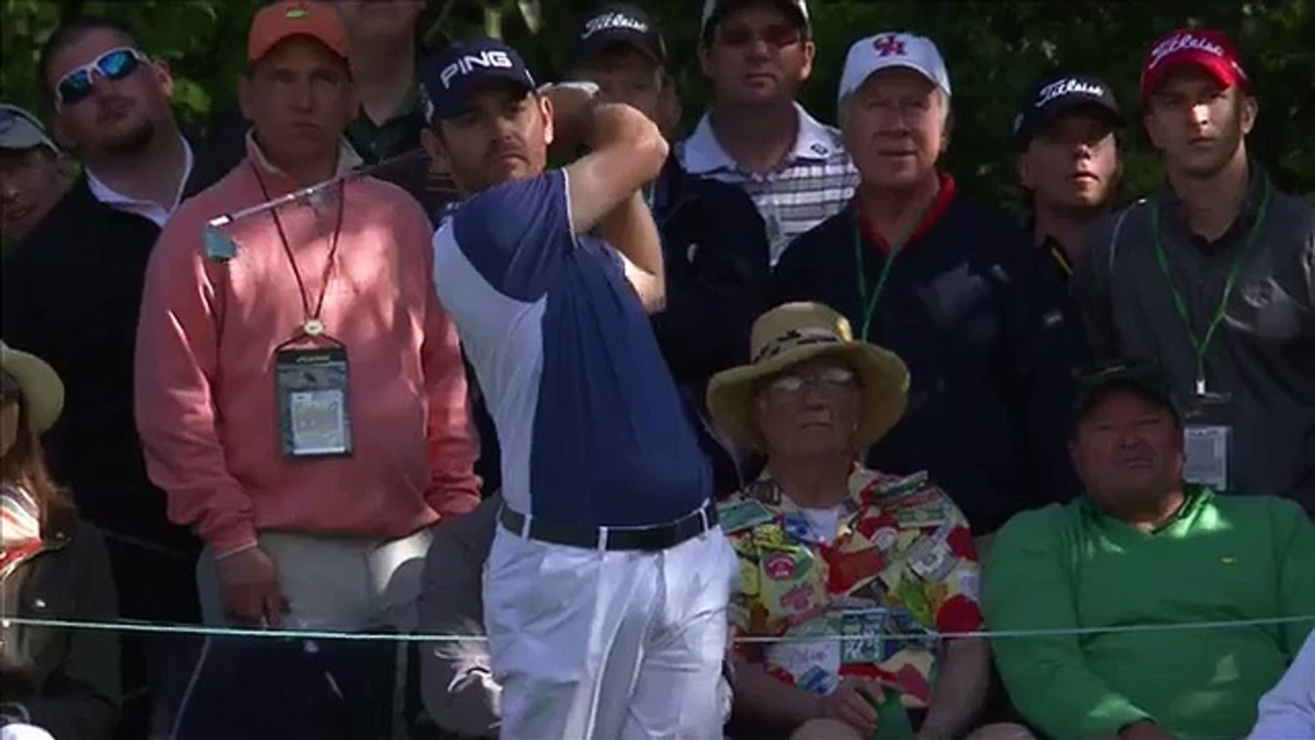 Louis Oosthuizen's 'unbelievable' hole-in-one after his ball hits another ball!