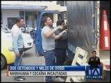 Operativos antinarcóticos dejan dos detenidos en  Quito
