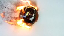 Pouring a Hot FireBall of Molten Glass on an iPhone 6S!