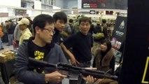 GHK M4 GBB Shooting Demo in Taipei Airsoft Show