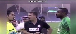 Saudi footballer is forced to have a HAIRCUT moments before kick-off after...