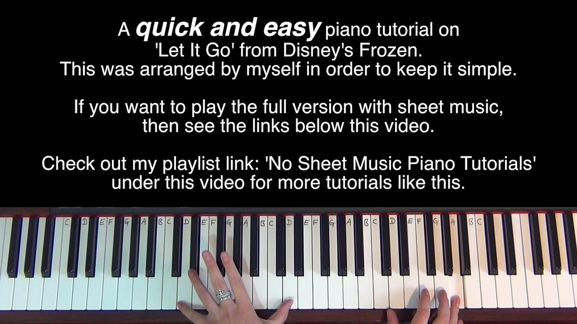 LET IT GO (Frozen) | Easy PIANO Tutorial