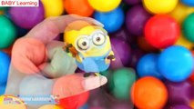 """""""BALL PIT SHOW"""" Learning Colors Surprise Toys Play Doh Minions Thomas Peppa Pig RainbowLearning"""