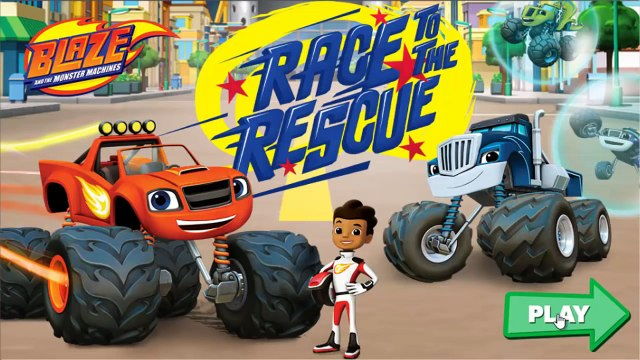 Blaze and The Monster Machines nick jr Nickelodeon - Blaze Race to the Rescue! Nick Jr Game For Kids