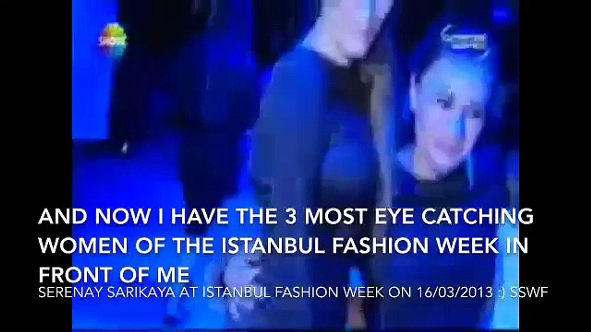 Serenay Sarikaya at Istanbul Fashion week 2013 with eng subtitles
