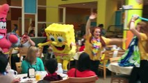 Spongebob Squarepants character breakfast at Nick Hotel - Jellyfishing song and dance