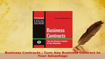 Read  Business Contracts  Turn Any Business Contract to Your Advantage Ebook Free