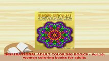 PDF  INSPIRATIONAL ADULT COLORING BOOKS  Vol16 women coloring books for adults Download Online