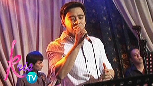 "Kris TV: Erik Santos sings ""God Gave Me You"""