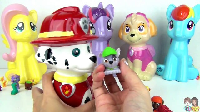 My Little Pony & Nickelodeon Paw Patrol Coin Banks Toy Surprises with Shopkins / TUYC