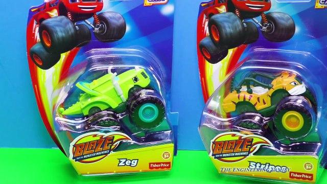 BLAZE AND THE MONSTER MACHINES Nickelodeon Blaze Zeg & Spikes Blaze Video Toy Reveiw