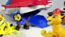 PAW PATROL Nickelodeon Lion Guard Visits Paw Patrol in Paw Patrol Air Patroller a Toy Parody Video