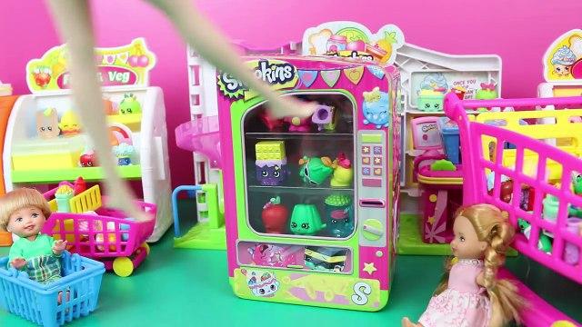 SHOPKINS VENDING MACHINE Frozen Kids Buy Shopkins Alex & Felicia Shopping With Elsa & Spiderman