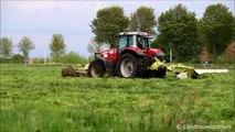 Massey Ferguson 6485 gras maaien 2014 - Demeyer uit Wakken