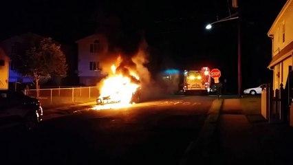 NORTH ALINGTON, NJ Fully Involved Car Fire 8/1/14