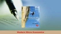 Download  Modern Micro Economics Download Online