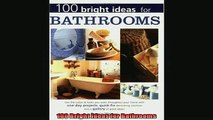 READ book  100 Bright Ideas for Bathrooms  FREE BOOOK ONLINE