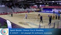 Premier passage, tir de précision masculin, France Tirs 2016, Sport Boules, Dardilly 2016