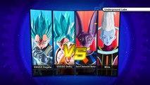 Dragon Ball Xenoverse-Super Saiyan God Super Saiyan Goku and Vegeta Vs. Beerus and Whis