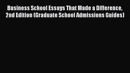 Phd business admission essay