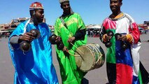 Marrakesh Jemaa el-Fna berber drummers