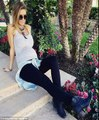 2 buns 1 oven Audrina Patridge shares sweet photo growing baby bump posing fianc Corey Bohan