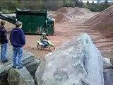 Doing a hill climb with a klx 125