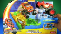 BLAZE AND THE MONSTER MACHINES Toy Launch and Go Forest Adventure with Blaze Monster Truck