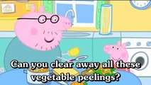 Learn english through cartoon - Peppa Pig with english subtitles - Episode 71- Compost