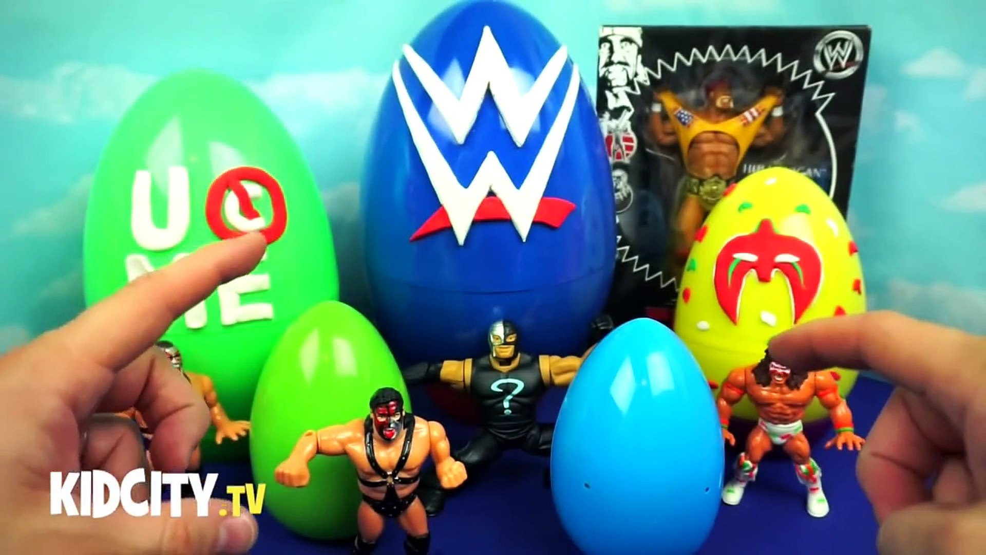 WWE Toys - WWE Surprise Eggs ft. WWE Stackdown Blind Bags - John Cena Figure & Hulk Hogan WWE To