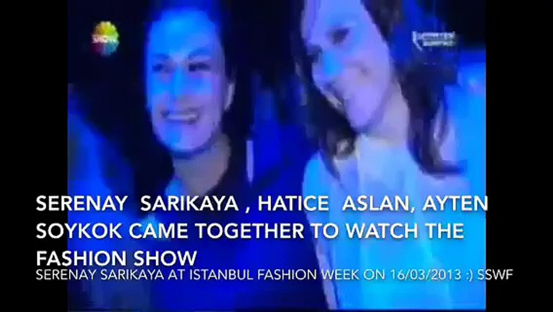 Serenay Sarikaya at Istanbul fashion week 2013