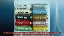 sélection de produits 10 Rouleaux à 500 m de fil à coudre syngarn pour machine à coudre différentes couleurs à