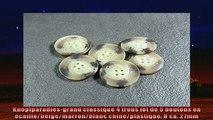 Produits  Knopfparadiesgrand classique 4 trous lot de 5 boutons en écaillebeigemarronblanc
