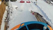 Snowboard Jump on Bagair Cimone