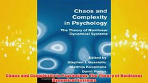 Free   Chaos and Complexity in Psychology The Theory of Nonlinear Dynamical Systems Read Download