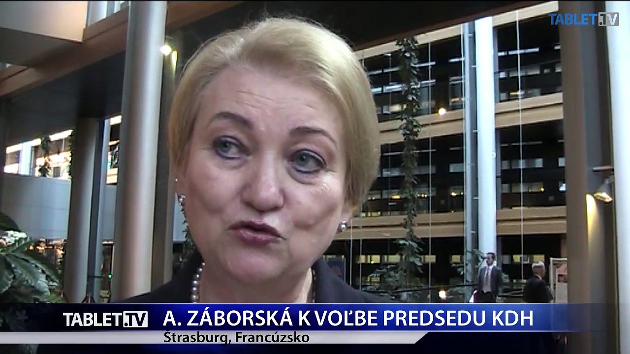 Štrasburg: Reakcia Anny Záborskej na vstup Alojza Hlinu do KDH