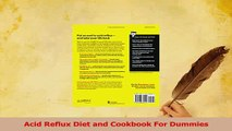 Download  Acid Reflux Diet and Cookbook For Dummies PDF Free