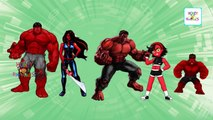 Hulk Cartoon Finger Family Songs   RED HULK Cartoon Animation Nursery Rhymes for Children