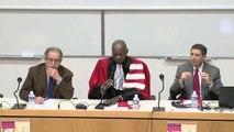 IDETCOM_Rire, droit et société_1_Allocutions d'ouverture et propos introductifs : H. KENFACK, Doyen de la Faculté de Droit, F. QUEROL, Doyen de la Faculté d'Administration et Communication, S. REGOURD, Directeur de l'IDETCOM, et D. GUIGNARD, Toulouse 1