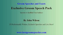 Groom Speeches - Master Writing and Delivering Wedding Speeches?
