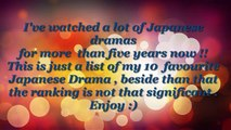 My Top 10 Japanese drama Of All Time Recommended JDRAMA
