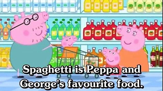 Learn english through cartoon - Peppa Pig with english subtitles - Episode 72- Shopping