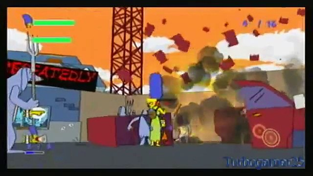 The Simpsons Wii Grand Theft Scratchy