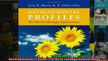Free PDF Downlaod  Developmental Profiles PreBirth Through Adolescence READ ONLINE
