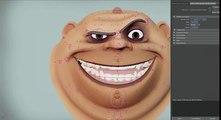 CGI Showreel HD   2D Style Facial Rigging  by Davoud Ashrafi