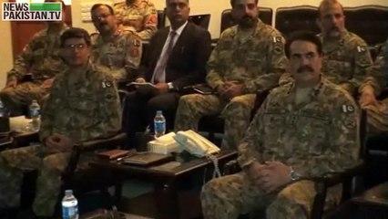 کور ہیڈ کوارٹرز کراچی میں آرمی چیف کی زیرصدارت اہم اجلاس