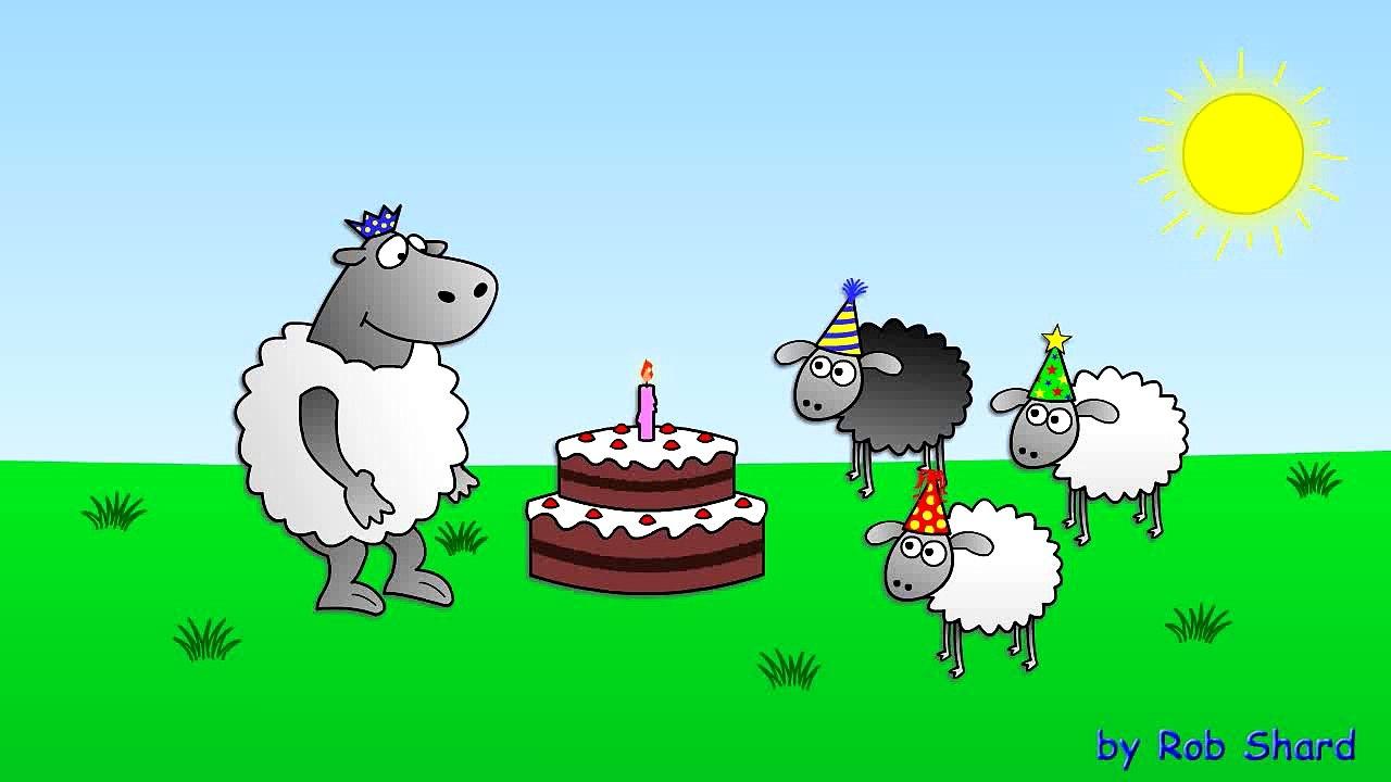 Happy Birthday - funny animated sheep cartoon (Happy Birthday song with  cake !!) – Видео Dailymotion