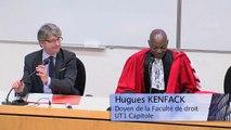 IMH_Le droit à la réinsertion des personnes détenues_1_Allocutions d'ouverture : Hugues KENFACK, Doyen de la Faculté de droit, et Stéphane MOUTON, co-directeur de l'Institut Maurice Hauriou (IMH)