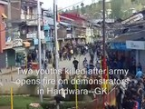 Indian Army Kills 2 Kashmiris Protesting Molestation of Student by Troopers in Handwor (Viral VidZ) - YouTube