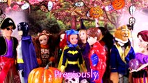 Descendants Mal & Evie and Frozen Elsa & Annas Halloween Party. Elsa Becomes a Ghost PART 2